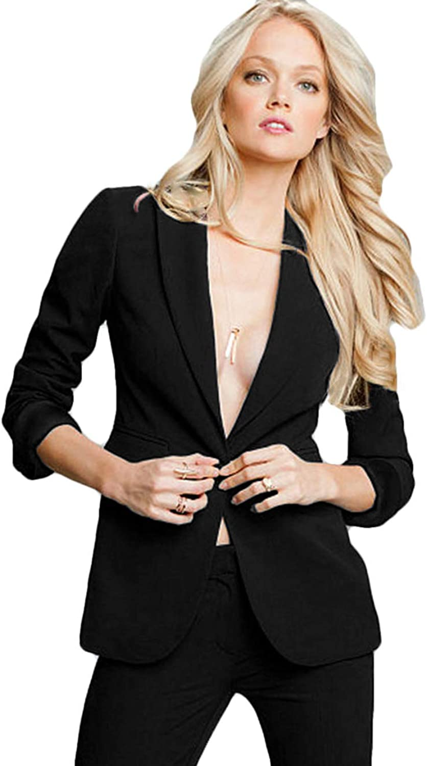 WZW Women's Professional Formal Pantsuits Ladies Business Suits Women Suits 2 Pieces (Jackets+Pants)