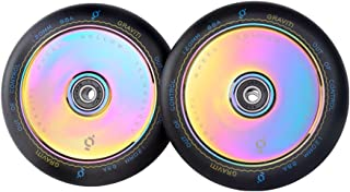 GRAVITI 1 Pair Pro Stunt Scooter Wheel 120mm Hollow Wheels with ABEC 9 Bearings for MGP/Razor/Lucky/Envy/Vokul Scooter (2pcs)