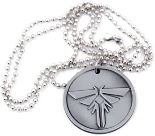 Game Last Us Silver Pendant Necklace Key Chain Cosplay Accessory