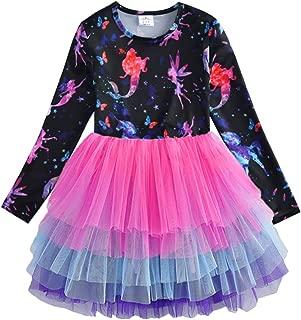 VIKITA Toddler Flower Girl Dress Winter Long Sleeve Tutu Party Dresses for Girls 3-7 Years