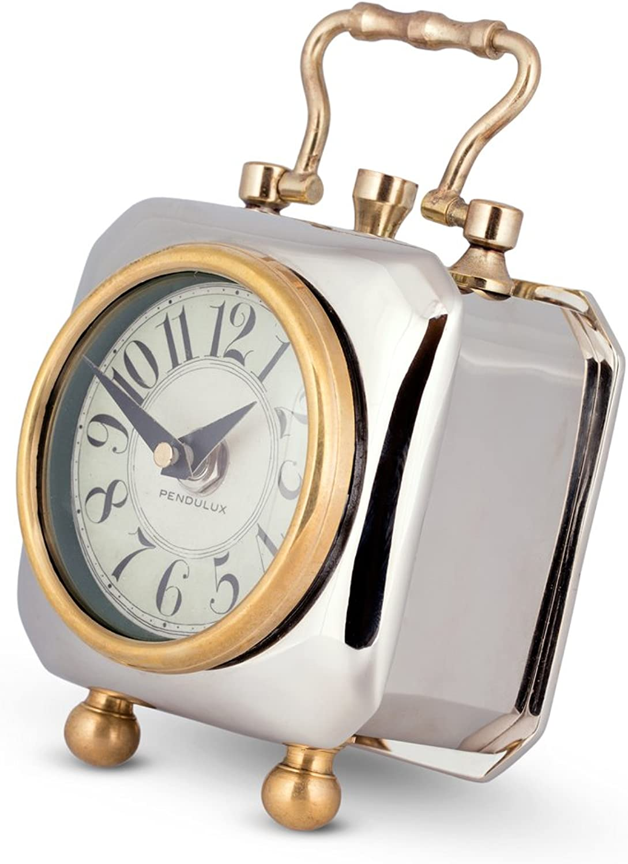 "Pendulux, Table Clock, 6"" H x 4  W x 4  D, 2.05 lbs - Tyler"