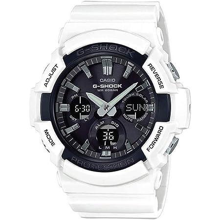 Casio Men's G-Shock Japanese Quartz Watch with Resin Strap, White, 29 (Model: GAS-100B-7ACR)