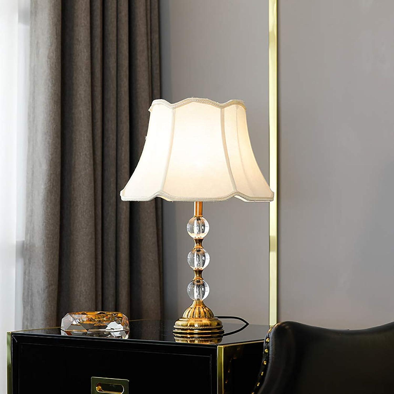 ZIXUAA Schlafzimmer Nacht Kristall Tischlampe, kreative Moderne minimalistische Wohnzimmerlampe, Hotelzimmer Studie Tischlampe, E27-C-Button
