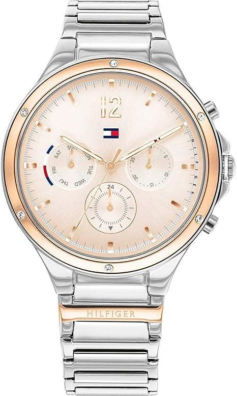 Tommy Hilfiger Reloj Analógico para Mujer de Cuarzo con Correa en Acero Inoxidable 01782279