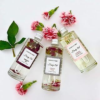 OLIVIA CARE Body Oils, Flavors: Apricot Fig, French Rose, Jasmine Gardenia -All Natural Perfume Fragrance & Body Oil Moisturizer, Rich in Vitamin E, K, Omega fatty Acids (3 Scents (1 Of Each))