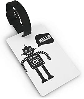 Suitcase Labels, ID Tags, Black Robot Luggage Tag Travel Accessories Business Card Holder Quickly Spot Luggage Suitcase for Boy,Girl,Man,Woman Size 2.2 X 3.7 inches