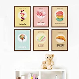 Painting Delicious Food Candy Poster Wall Art Sweet Lollipop Canvas Home Bedroom Baby Room Print Art Picture Decor -30x40c...
