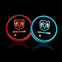 Auto Sport 2PCS LED Cup Holder Mat Pad Coaster with USB Rechargeable Interior Decoration Light fit Dodge Accessory