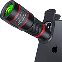 Cell Phone Lens, 20X Zoom Telephoto Lens, HD Phone Camera Lens for iPhone, Samsung, Android Smartphone, Monocular Telescope