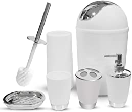 Bathroom Accessories Set 6 Pieces Plastic Bathroom Accessories