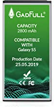 GadFull Battery Compatible with Samsung Galaxy S5 | 2019 Production Date | Corresponds to..