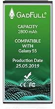 GadFull Batteria compatibile con Samsung Galaxy S5 | 2019 Data di produzione | Corrisponde al EB-BG900BBE EB-BG900 originale | Compatibile con Galaxy S5 SM-G900F