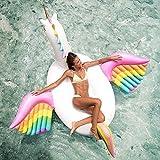 miaomiao Schwimmring250cm Riesen Pegasus Aufblasbarer Pool Float Regenbogen Einhorn Aufsitzwasser Party Spielzeug Adult Beach Schwimmring Luftmatratze