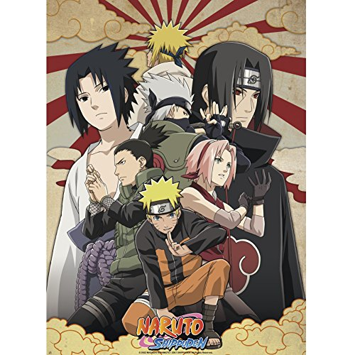 Branpresto 605727b - Naruto Shippuden - Poster Shippuden Groupe 2 roulé filmé (Playstation 4) 52 x 38 cm (ABYstyleABYDCO254)