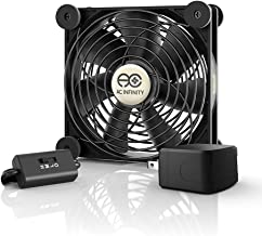 AC Infinity MULTIFAN S3-P, Quiet 120mm AC-Powered Fan with Speed Control, for Receiver DVR Playstation Xbox Component Cooling