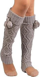 YOSEMITE, Mujeres Lady Rodilla Alta Calcetines Pierna Calentador de Banket Invierno Knit Legging