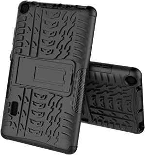 Boleyi Case for Huawei MediaPad T3 7.0, [Heavy Duty] [ Slim Hard Case] [ Shockproof] Rugged Tough Dual Layer Armor Case With stand function -Black