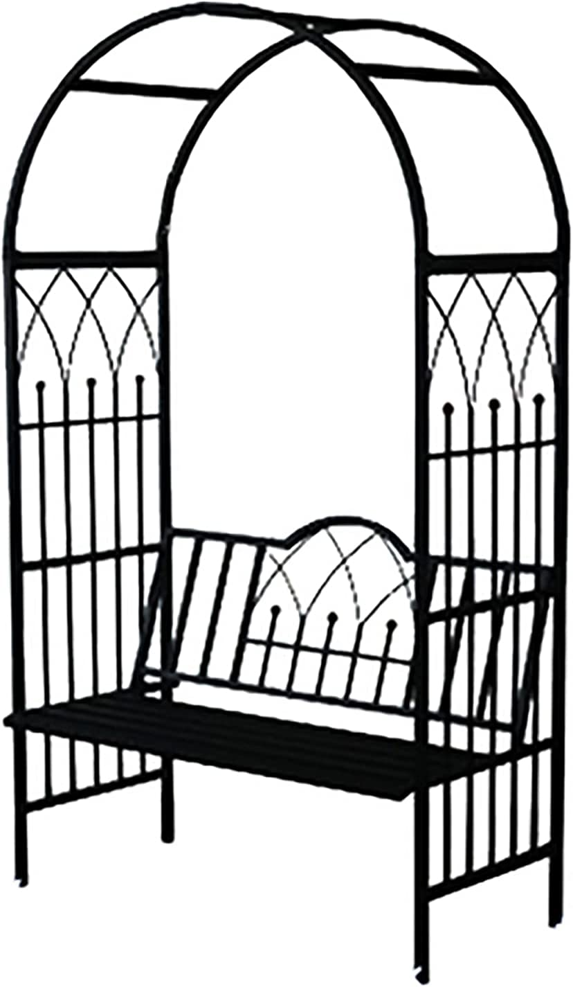 zmtzl Max 68% OFF Arched Flower Stand 2.2m Black Dut Spring new work one after another Metal Arch Heavy Garden