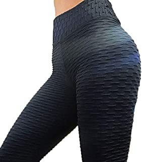 Womens High Waisted Yoga Pants Tummy Control Slimming Scrunch Yoga Pants, Lifting Stretchy Leggings Textured Booty Tights...
