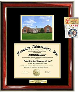 Diploma Frame UMUC University of Maryland University Graduation Gift Idea Engraved Picture Frames Engraving Degree Graduate Bachelor Masters MBA PHD Doctorate School