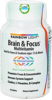 Rainbow Light Multivitamin Brain & Focus, 90 tabs, 2-Pack