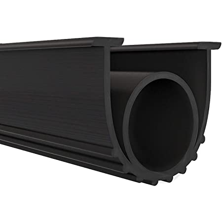 "Garage Door Seals Bottom Rubber Weather Stripping Kit Seal Strip Replacement,Universal Weatherproof Threshold Buffering Sealing Rubber 5/16"" T Ends, 3 3/4"" Width (10 Ft, Black)"