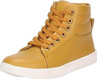 Kraasa Boys Beige Lace Sneakers