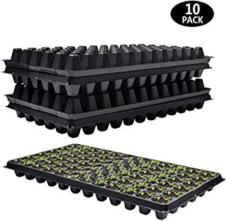72 Cell Seed Starter Tray - 10 Pack, Extra Strength 1020 Starting Trays for Seed Germination, Plant Propagation, Soil & Hydroponics, Germination Plugs