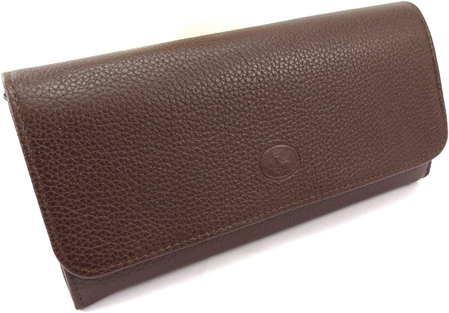 Large leather wallet 'Frandi' brown grained.