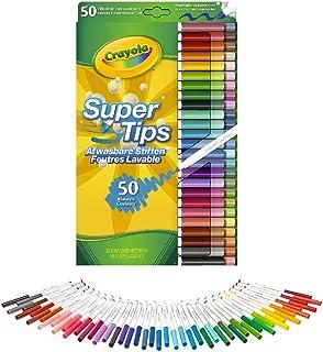 Crayola 50 Feutres SuperTips - Stylos-feutres (Multicolore, Conical tip, Multicolore, Rond, 4 année(s), Garçon/Fille)