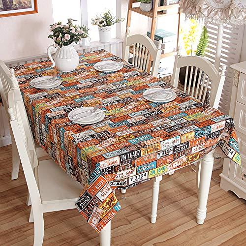 Brandless Mantel de Fiesta de Personalidad Retro de Lienzo Grueso de algodón para Mesa de Buffet, Fiestas, Cena Festiva (Amarillo, Azul Oscuro)