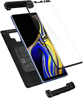 Spigen Thin Fit 360 Designed for Galaxy Note 9 Case (2018) Tempered Glass Screen..