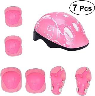 VORCOOL Casco de Bicicleta de protección para niños con Codo Almohadillas de muñeca para niños Accesorios de Bicicleta para niños (Rosa)