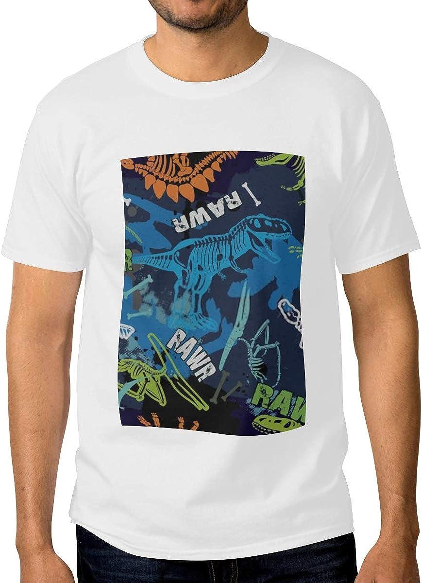 Deluxe Max 57% OFF Mens Crewneck Shirts Seamless Dino Print Pattern Tshirts Textile