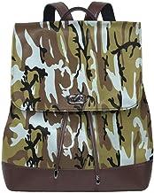 "sunminey Damen Lederrucksack Camouflage Women""s Leather Backpack Travel Casual Elegant Drawstring Shoulder Bag Travel Bags"