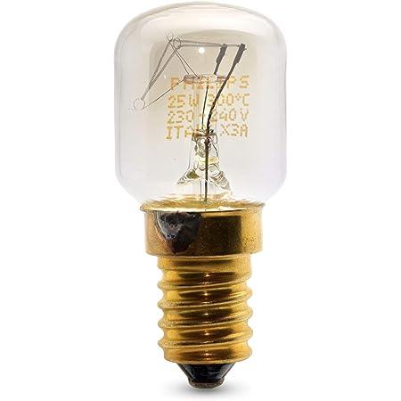2x Philips 25W SES E14Petit culot à vis Pygmy lamps > 300degrés C micro-ondes/four ampoules nominale Lot