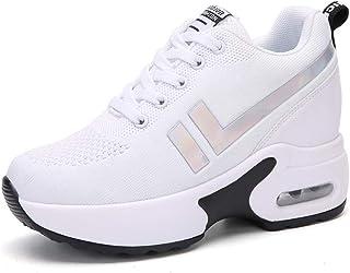 Dames Platform Sneakers Comfortabel Veters Buiten Wandelen Effen Schoenen Casual Ademend Mesh Jogging Fitness Wedge Trainers