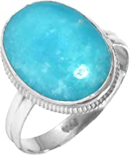 Natural Smithsonite Gemstone Fashion Jewelry Solid 925 Sterling Silver Ring Size 10.5