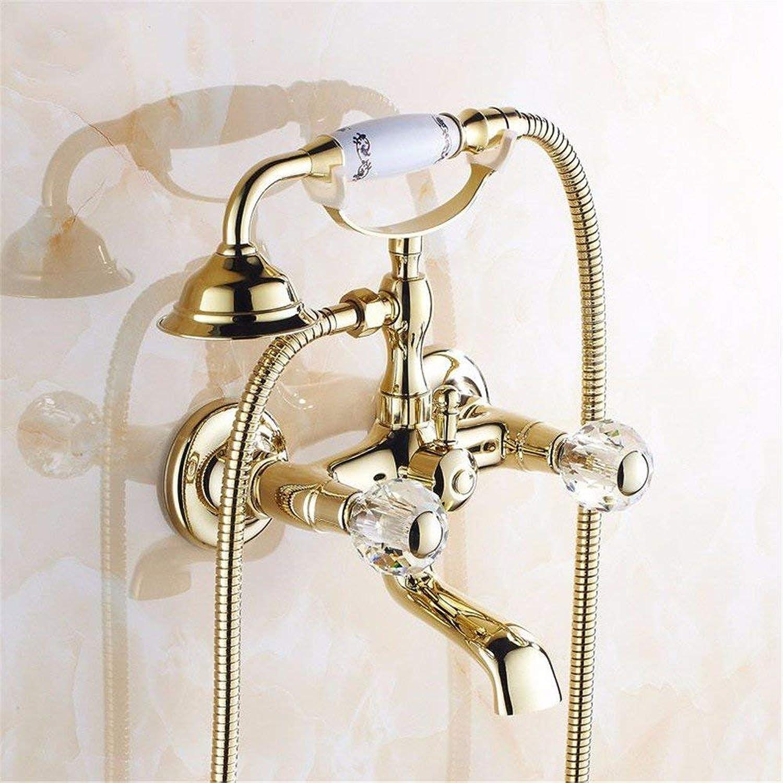 Gold alle Bronze antike Badewanne Armaturen, kontinentales Armaturen Dusche, unten Wasser, Spinning, nicht verblassen, K