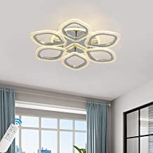 Qcyuui LED Ceiling Light 80W Dimmable Ceiling Lighting Fixtures with Remote Control Modern Flush Mount Chandeliers Ceiling...