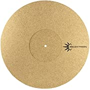 """Turntable Slipmat Anti-Static Cork Mat - 1/8"""" Thick Vinyl Record Player Pad by Record-Happy. an Essential Upgrade for The Demanding Audiophile; with Receding Center. Improves Sound and Reduces Noise"""