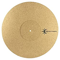 "Turntable Slipmat Anti-Static Cork Mat - 1/8"" Thick Vinyl Record Player Pad"