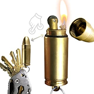 OPG3 Bullet Lighter Keychain - EDC Waterproof Lighter - Magnesium Fire Starter for Survival and Emergency Use