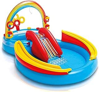 Intex 57453NP Rainbow Ring Water Play Centre, Multi Colour, 297x193x135 cm