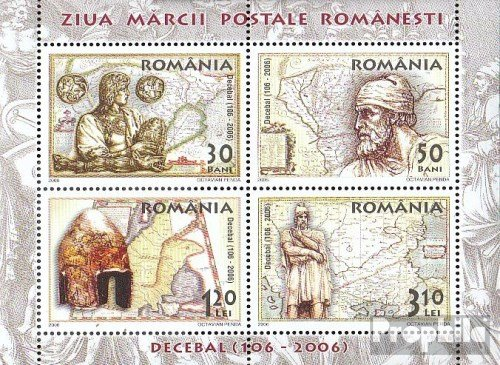 Prophila Collection Rumänien Block382 (kompl.Ausg.) 2006 Tag der Briefmarke: König Decebalu (Briefmarken für Sammler)