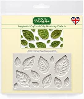 Katy Sue Rose Leaves Silicone Mould for Cake Decorating, Cupcakes, Sugarcraft, Candies and Clay, Food Safe