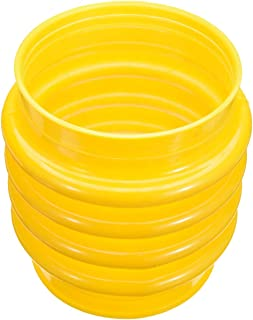 BoMiVa - New 17.5cm Jumping Jack Bellows Boot Yellow For Wacker Rammer Compactor Tamper Power Tools Accessories