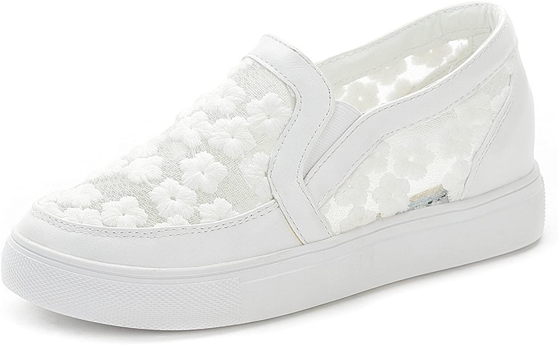 No.66 Town Women's Premium Mesh Casual Walking shoes Platform Loafers