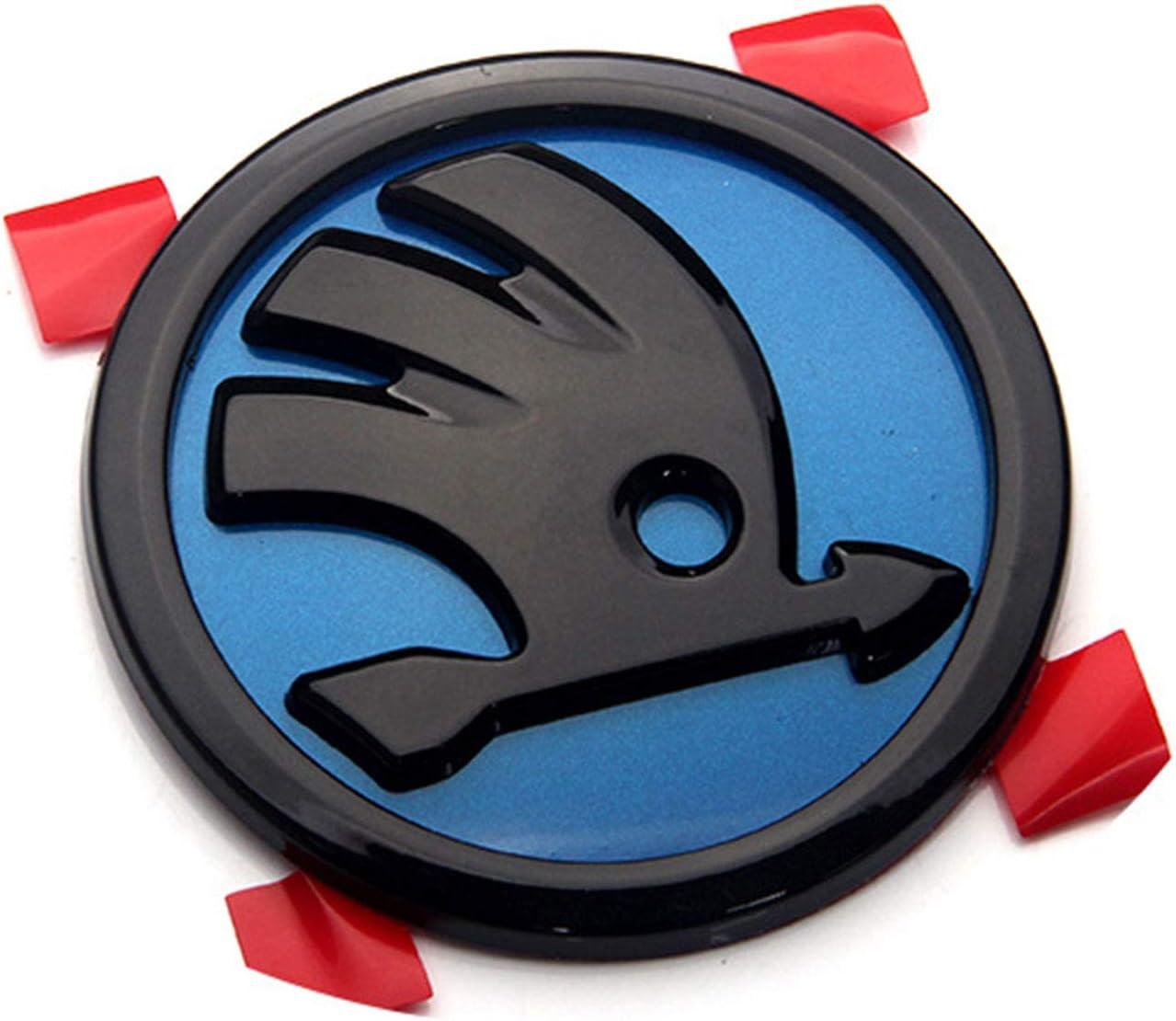 None//Brand Car Styling Medio Rejilla Frontal Posterior del Tronco del Emblema De Reemplazo Etiqueta Engomada del Logotipo De S-Koda Octavia Magn/ífico Frontal ,Azul 90 Mm