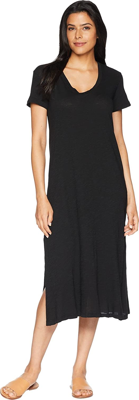 Allen Allen Womens Short Sleeve VNeck Long Dress